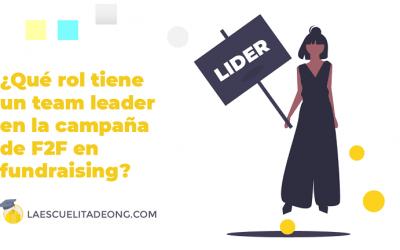 ¿Qué es un team leader en fundraising?
