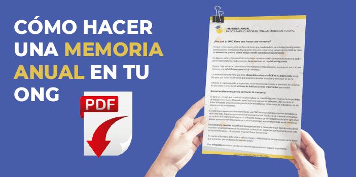 Memoria Anual ONG
